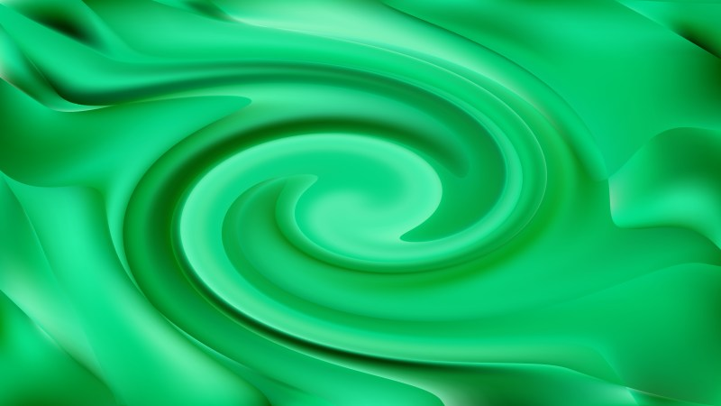Abstract Emerald Green Swirling Background