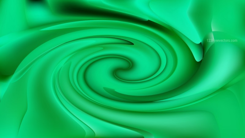 Abstract Emerald Green Swirling Background Image