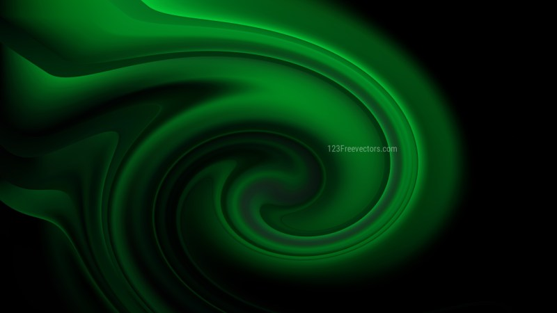 Abstract Cool Green Spiral Background Texture