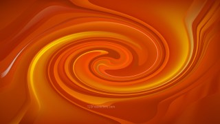 Abstract Orange Twirl Background