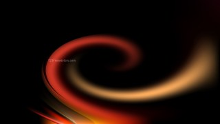 Abstract Orange and Black Twirling Background