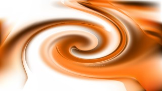 Abstract Orange and White Twirling Background Image