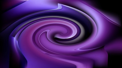 Abstract Purple and Black Whirl Background Texture