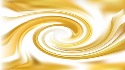 Abstract White and Gold Whirlpool Background Texture