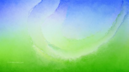 Blue and Green Grunge Watercolour Background