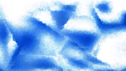 Blue and White Watercolor Background Image
