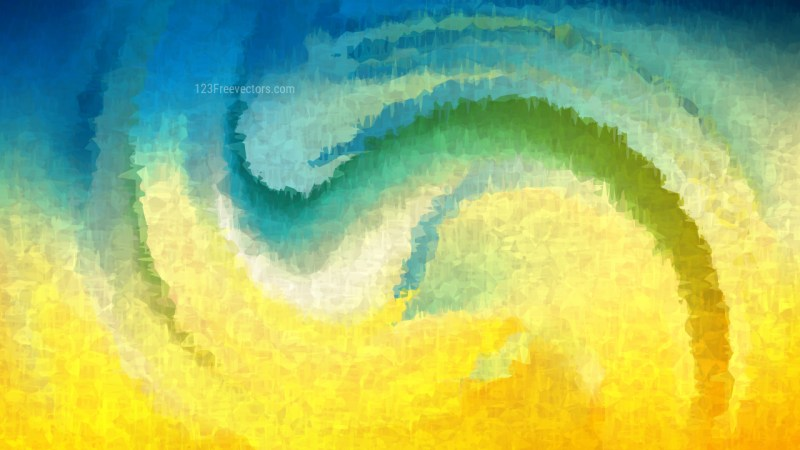 Blue and Yellow Grunge Watercolour Texture Background