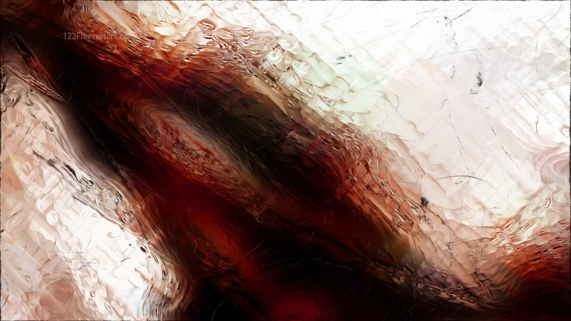 Abstract Brown Black and White Glass Effect Paint Background