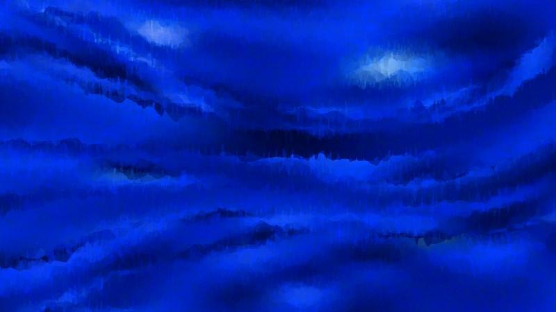 Cobalt Blue Grunge Watercolor Background