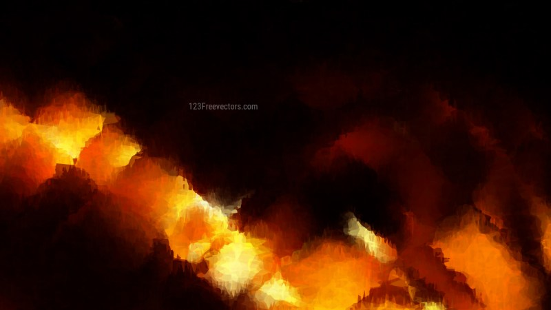 Cool Orange Watercolor Background Image