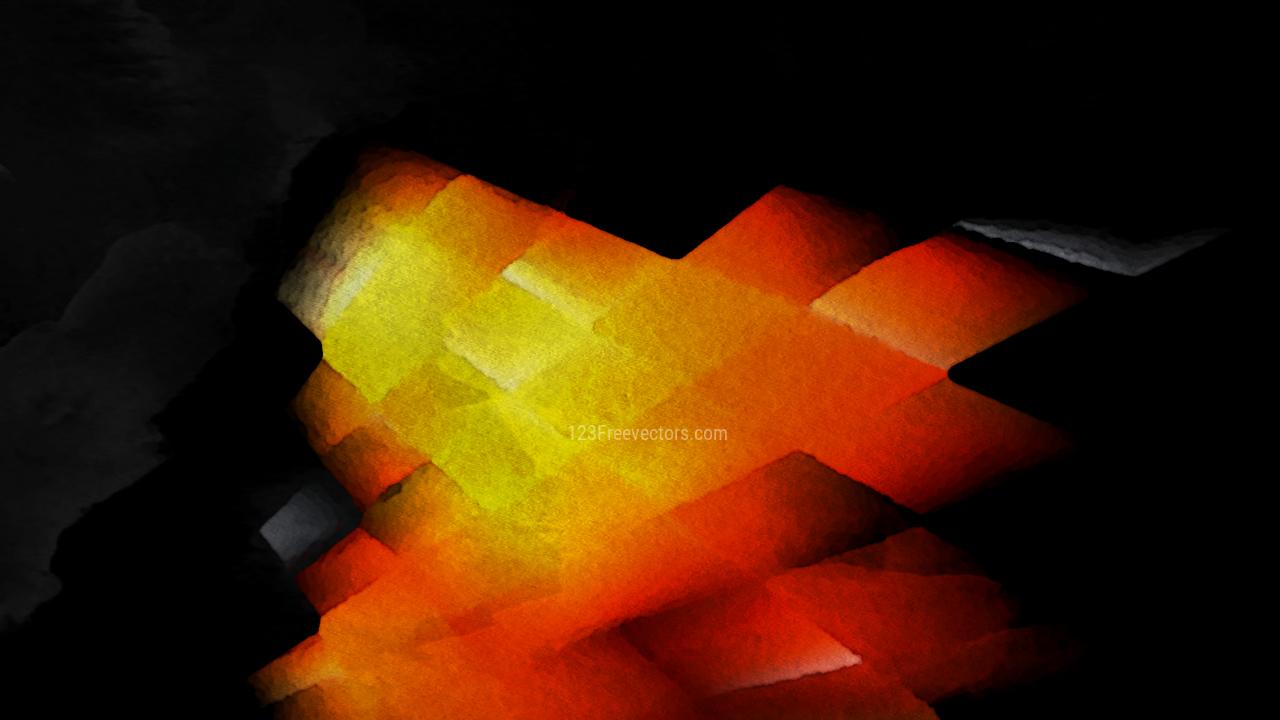 Cool Orange Watercolor Grunge Texture Background
