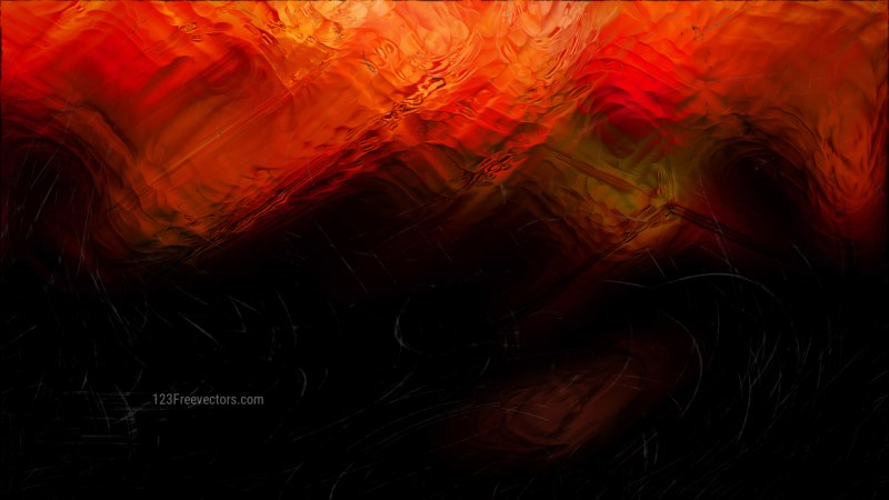 Abstract Cool Orange Glass Effect Painting Background