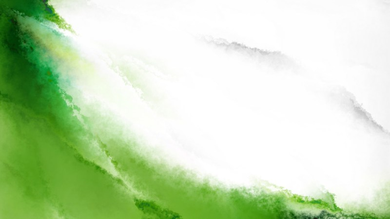 Green and White Aquarelle Background Image