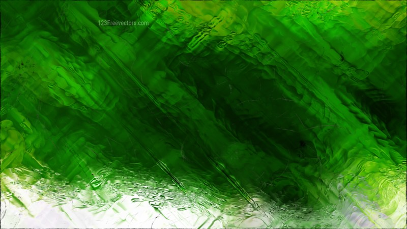 Abstract Green and White Glass Effect Paint Background