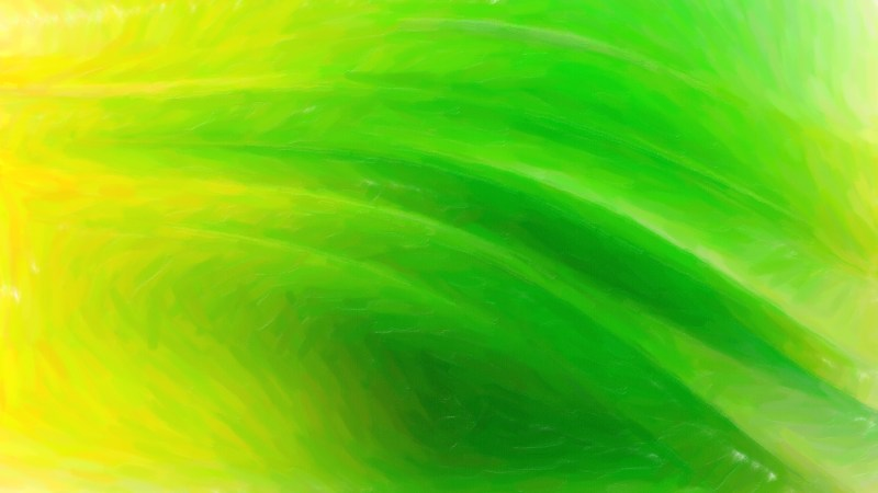 Abstract Green and Yellow Painting Background