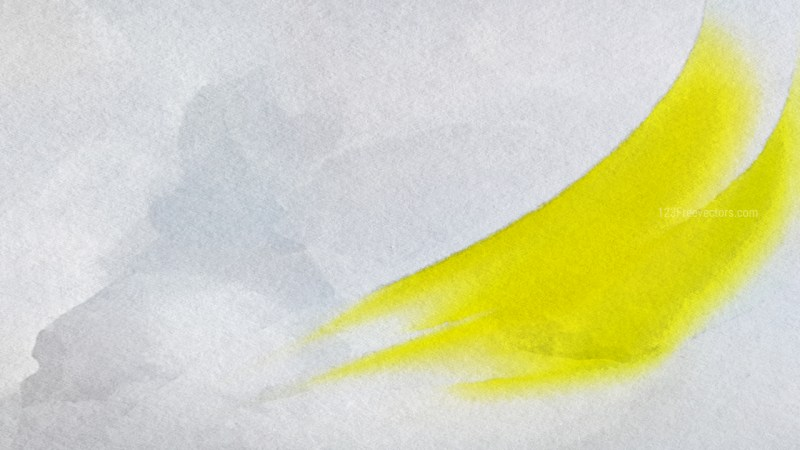 Grey and Yellow Grunge Watercolor Background