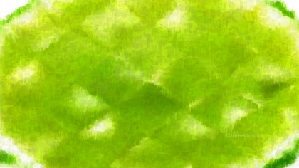 Lime Green Grunge Watercolour Background Image