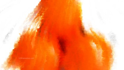 Orange and White Distressed Watercolour Background Image