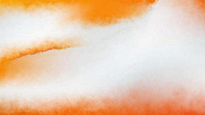Orange and White Watercolor Texture