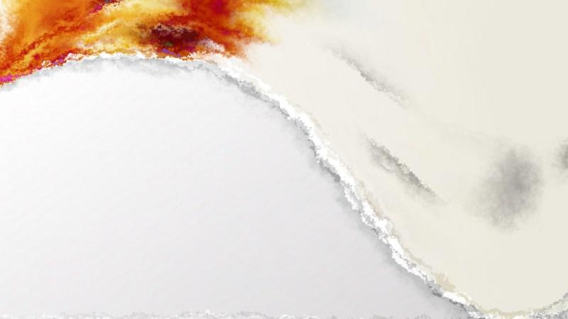 Orange and White Aquarelle Background