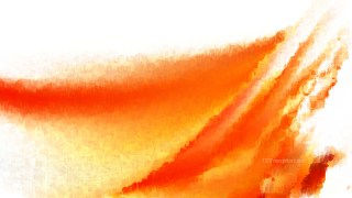 Orange and White Watercolour Background Texture