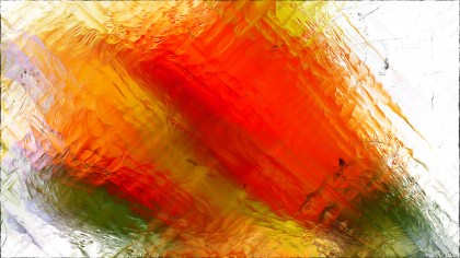 Abstract Orange and White Glass Effect Painting Background