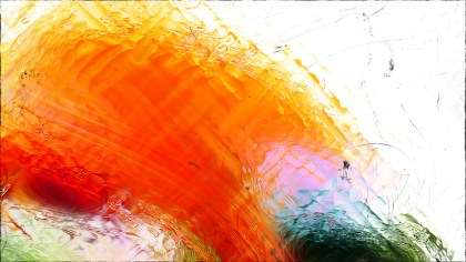 Abstract Orange and White Glass Effect Paint Background