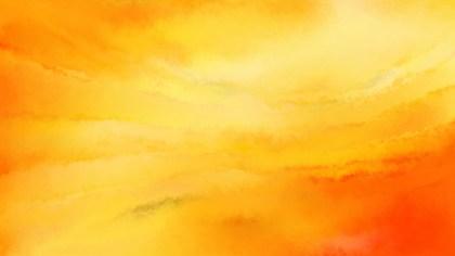 Orange and Yellow Grunge Watercolour Background Image