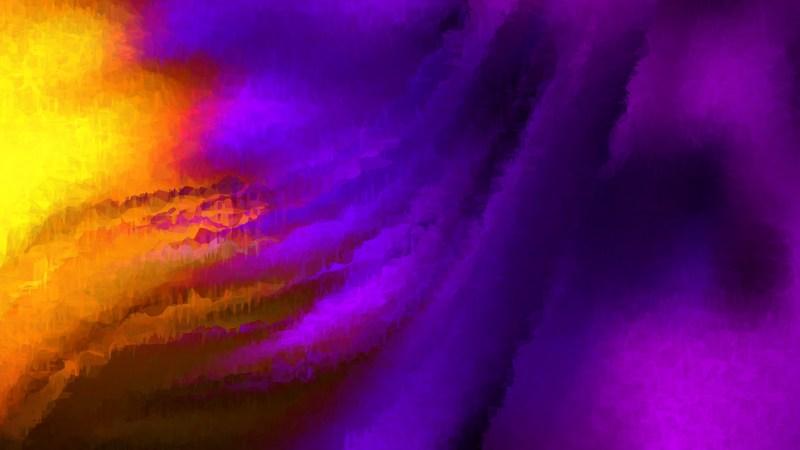 Purple and Orange Watercolour Background