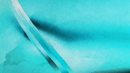 Turquoise Grunge Watercolour Background Image