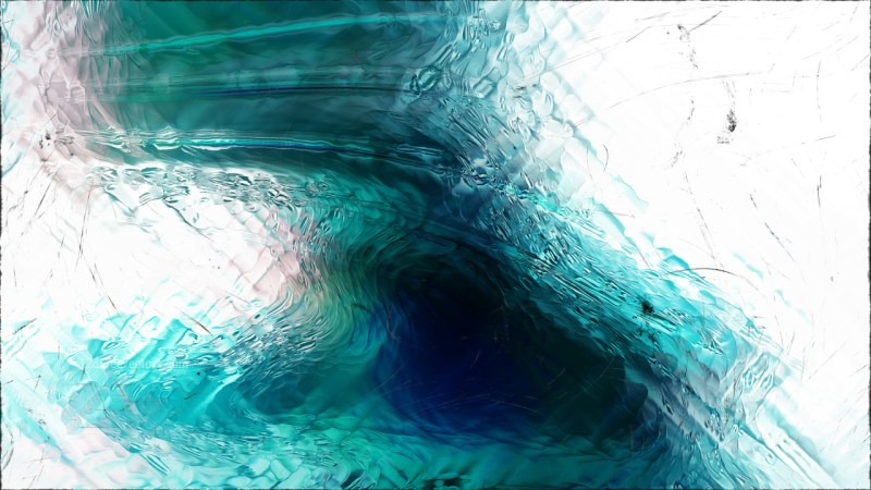 Abstract Turquoise Black and White Glass Effect Paint Background