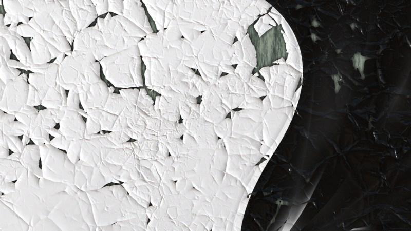 Black Cracked Grunge Background