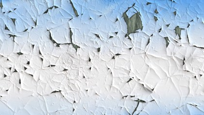 Blue and White cracked Paint Texture Background