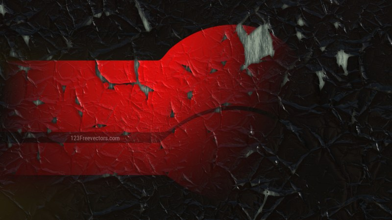 Cool Red Cracked Wall Background