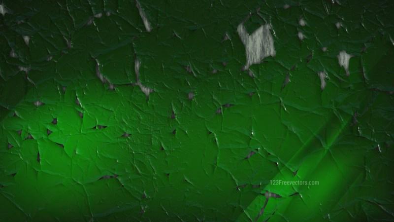 Dark Green Cracked Grunge Background