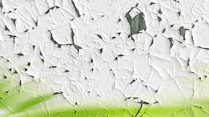 Green and White Cracked Grunge Wall Texture