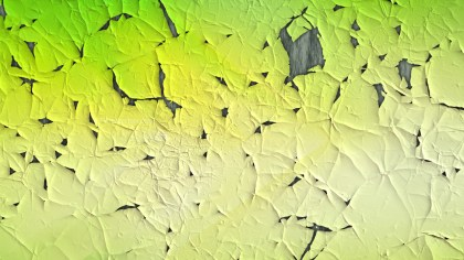 Green and Yellow Cracked Paint Texture
