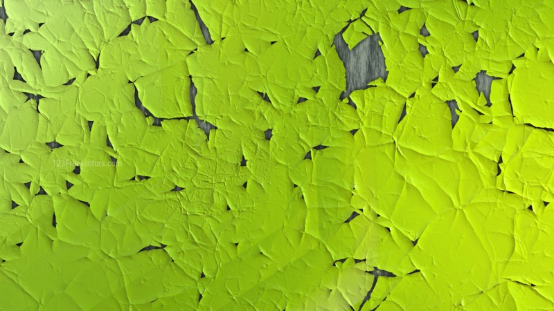 Lime Green Cracked Texture Background