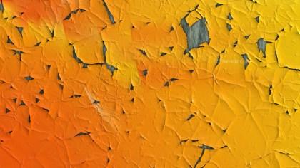 Orange Grunge Cracked Wall Background