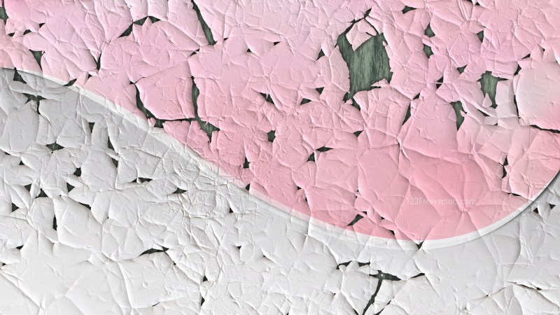 Pink and White cracked Paint Texture Background