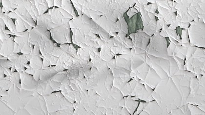 White Cracked Wall Texture Background