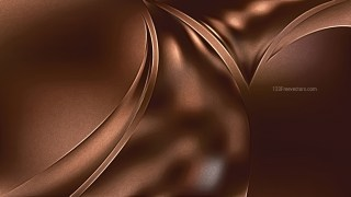 Coffee Brown Shiny Metal Background