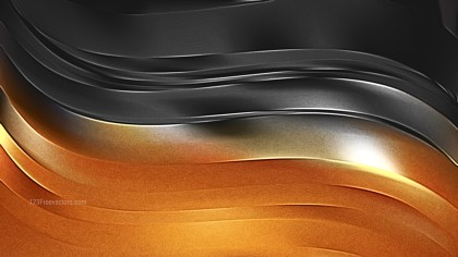 Cool Orange Shiny Metal Texture Background