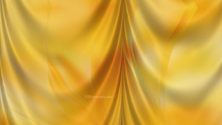 Abstract Amber Color Satin Drapes Background