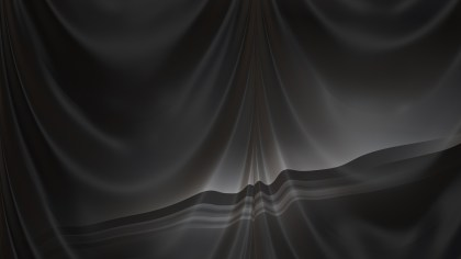 Abstract Black Silk Drapery Textile Background