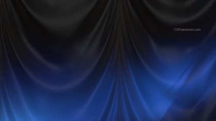 Abstract Black and Blue Silk Drapes Background