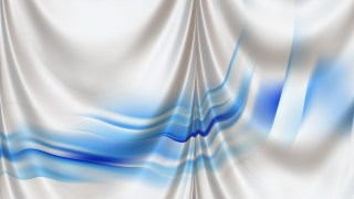 Abstract Blue and White Satin Curtain Background