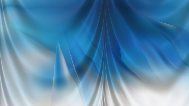 Abstract Blue and White Drapery Background