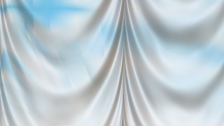 Abstract Blue and White Drapes Background