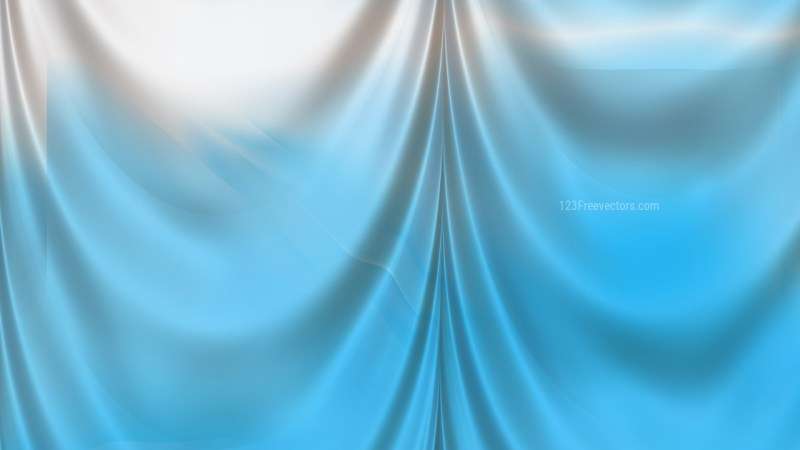 Abstract Blue and White Silk Drapery Textile Background
